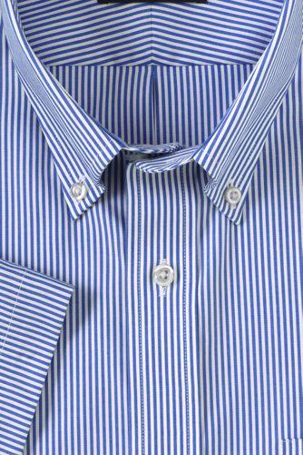 Men's Big & Tall Traditional Fit Short Sleeve Pattern No Iron Supima Pinpoint Dress Shirt
