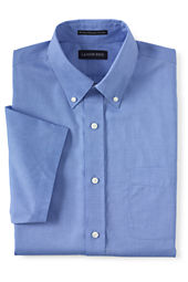 Men's Short Sleeve Traditional Fit No Iron Pinpoint Buttondown Shirt