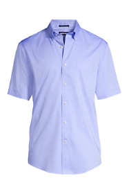 Men's Traditional Fit Short Sleeve Solid No Iron Supima Pinpoint Dress Shirt