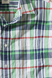 Men's Short Sleeve Plaid Poplin Shirt