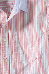 Men's Short Sleeve Contrast Colored Oxford Shirt