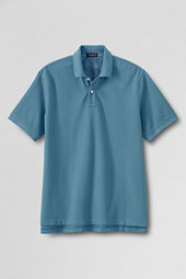 Men's Short Sleeve Garment Dyed Mesh Polo