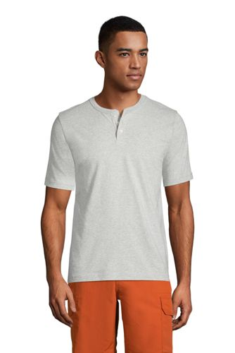 Kurzarm-Super-T Henleyshirt für Herren