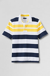 Men's Short Sleeve Stripe Rugby Shirt