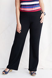 Women's Plus Size Drapey Ponte Wide Leg Pants