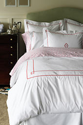 Hotel Percale Diamond Embroidered Bedding