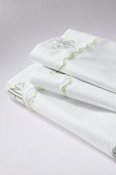 400-count Embroidered Chevron Sheet Set or Pillowcase
