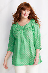 Women's Plus Size 3/4-sleeve Balletneck Tunic