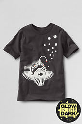 Boys' Short Sleeve Glow-in-the-dark Fish Graphic T-shirt