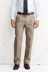 Men's Pleat Front Comfort Waist Supima Cotton Twill Trousers