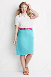 Women's Plus Size Stretch Chino Skirt