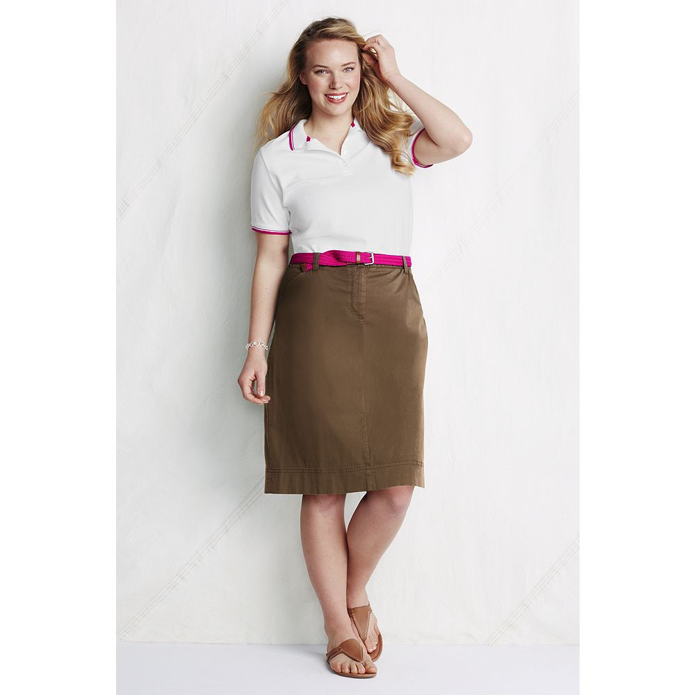 Lands' End Women's Plus Size Stretch Chino Skirt at Sears.com