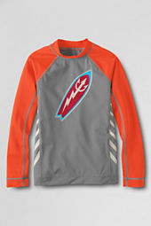 Boys' Long Sleeve Surf Board Graphic Rash Guard