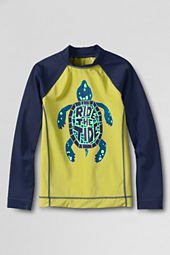 Boys' Long Sleeve Turtle Graphic Rash Guard
