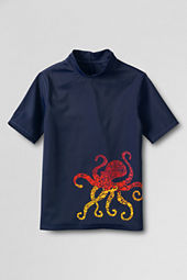 Boys' Short Sleeve Octopus Graphic Rash Guard