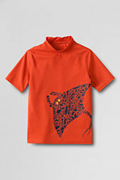 Boys' Short Sleeve Sting Ray Graphic Rash Guard