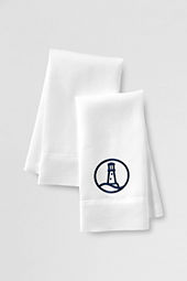 Embroidered Lighthouse Linen Guest Towels (Set of 2)