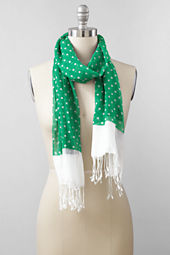 Women's Cotton Voile Oblong Dot Scarf