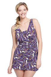 Women's Plus Size Slender Grecian Paisley SwimDress