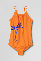 Girls' Hula Splash Zebra Graphic One Piece Swimsuit