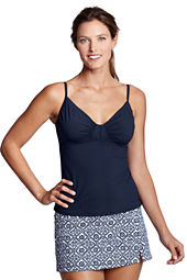 Women's Beach Living Shirred Tankini Top
