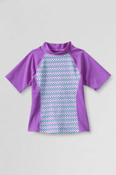 Girls' Color Block Pattern Rash Guard