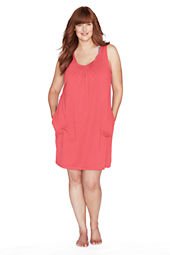Women's Plus Size Sleeveless Scoopneck Cover-up Dress