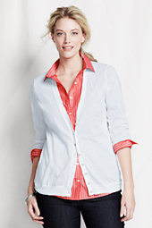 Women's Plus Long Sleeve Summer Supima Cardigan