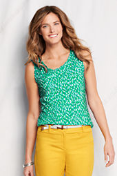 Women's Print Lightweight Cotton Modal Scalloped Shell