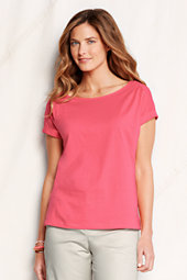 Women's Lightweight Jersey Boat Neck Tee