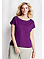 Jerseyshirt mit U-Boot-Ausschnitt für Damen in Plusgröße