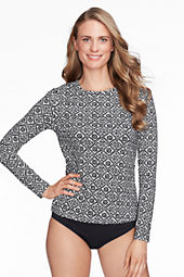 Women's Batik Crewneck Swim Tee Cover-up