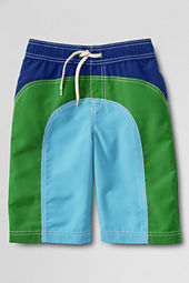 Boys' Colorblock Pieced Swim Trunks