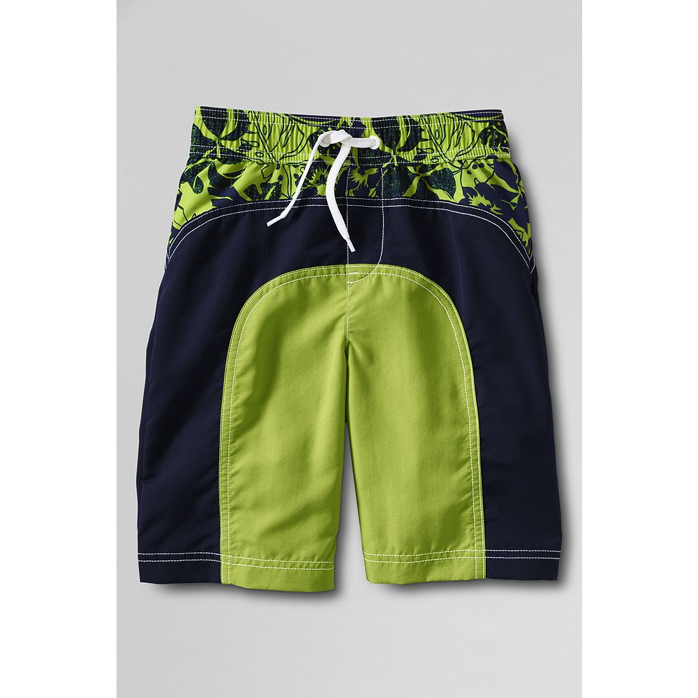 Lands' End Toddler Boys' Colorblock Pieced Swim Trunks