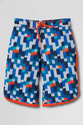 Boys' ShakeDry™ Pattern Stretch Swim Trunks