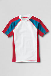 Boys' Short Sleeve Colorblock Rash Guard