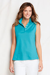 Women's Sleeveless Dot Pima Polo