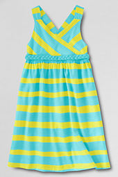 Girls' Knit Crossover Braided Bodice Dress