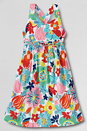 Girls' Cotton Jersey-knit Crossover Braided Bodice Dress