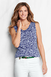 Women's Lightweight Cotton Modal Print Shell