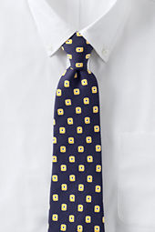 Men's Sandwashed Silk Block Neat Necktie