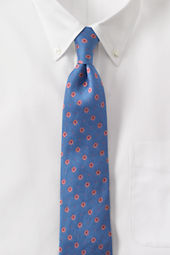 Men's Silk Linen Starburst Necktie