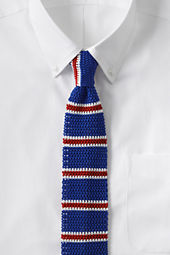 Men's Silk Knit Caterpillar Stripe Necktie
