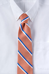 Men's Linen Bi-color Stripe Necktie
