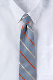 Men's Rustic Silk Linen Stripe Necktie