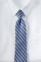 Men's Silk Linen Herringbone Stripe Necktie