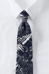 Men's Silk Map Print Necktie