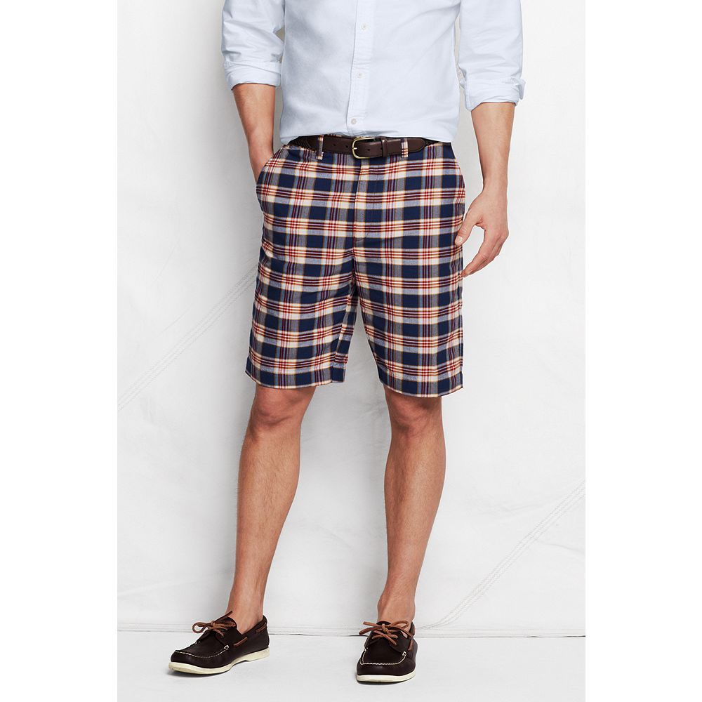 "Lands' End Men's 9"" Madras Shorts at Sears.com"