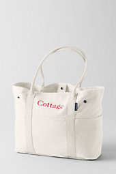 Women's Large Washed Canvas Tote Bag