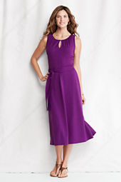 Women's Cotton Modal Keyhole Dress